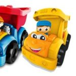 Mega Bloks Lil' Vehicles Dylan Dump Truck and Sonny School Bus #FirstBuilders {Giveaway. 2 Winners}