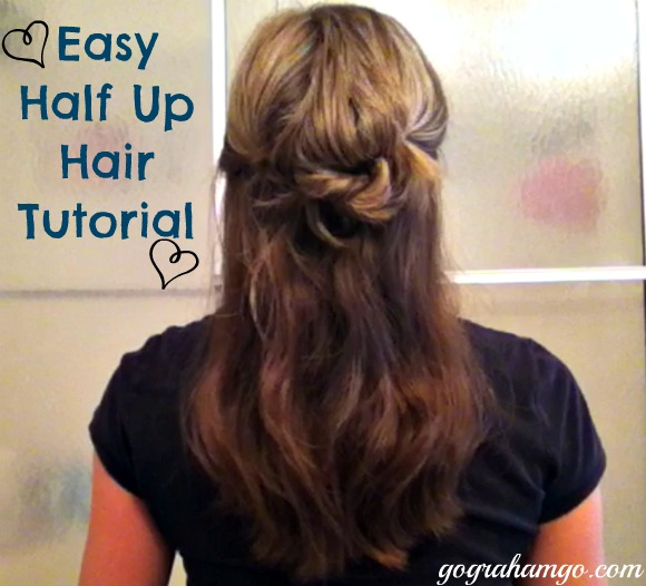 easy half up do tutorial
