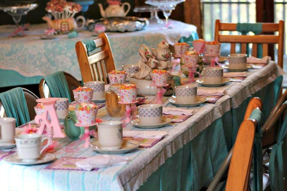 tea party birthday ideas table setting