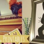 Easter Mantel Decor Ideas and a Free Bunny Silhouette Printable