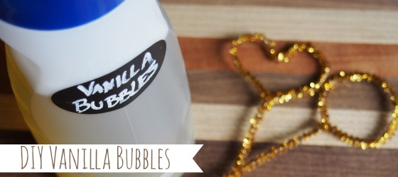 DIY Vanilla Bubbles and bubble wands