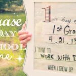 "DIY Dry Erase ""First Day of School"" Frame + Free Printable #MichaelsBTS"