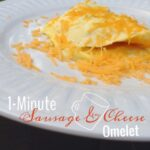 1 minute sausage and cheese omelet