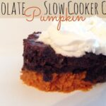 chocolate pumpkin slow cooker cake