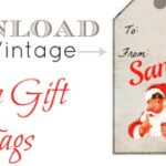 free vintage santa gift tags for Christmas