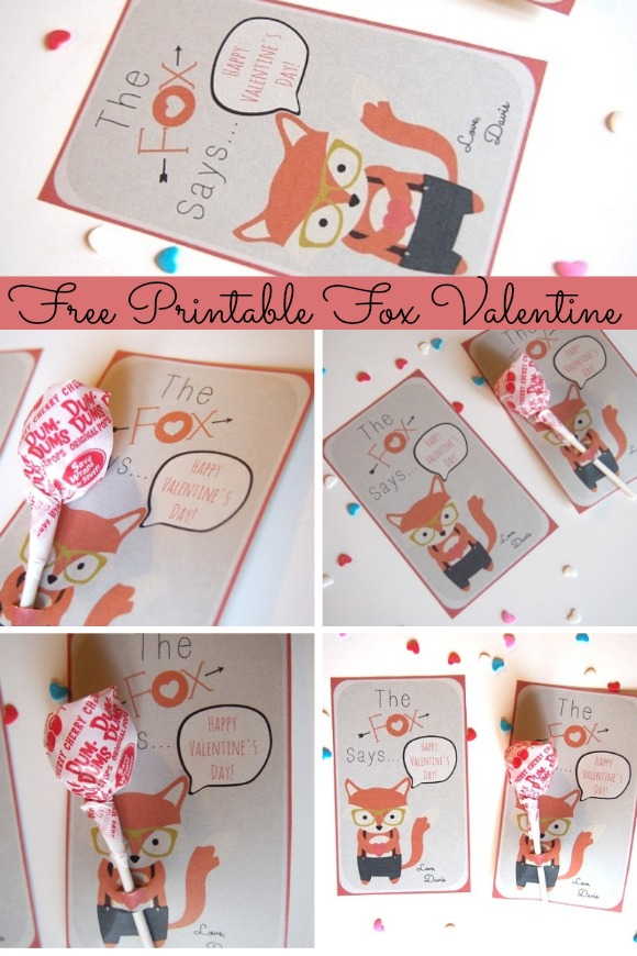 The Cutest Free Printable Fox Valentine Cards!