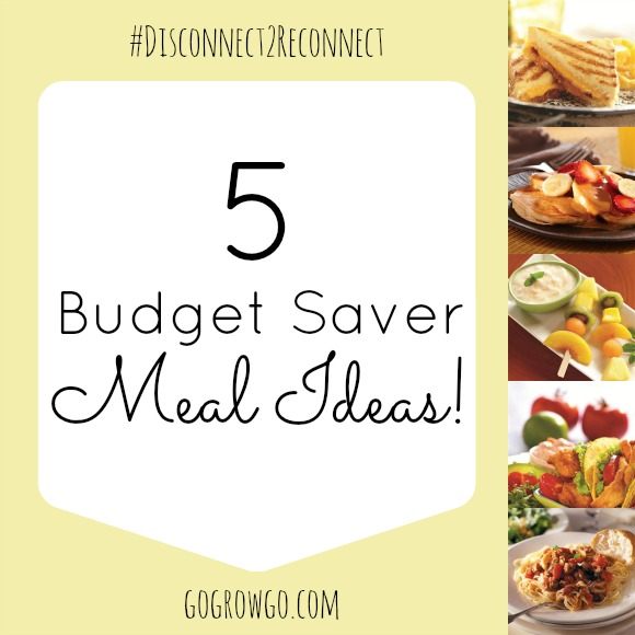 5 Budget Saver Meal Ideas