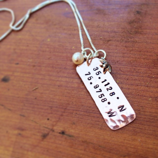 hand stamped personalized jewelry