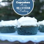 Blue Velvet Cupcakes with Vanilla Buttercream Frosting for July 4th #MyDawnSummer {Giveaway}