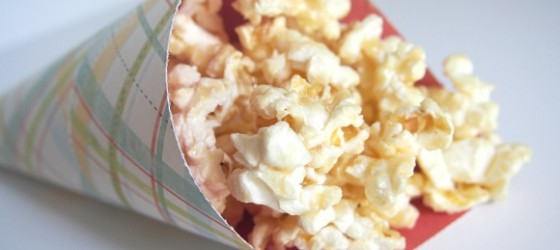 Vanilla-Butter Popcorn Back to School Snack