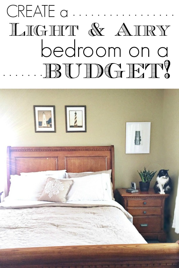 Create a light and airy bedroom on a budget