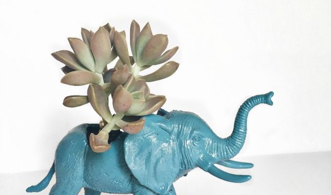 Simple and Fun Elephant Planter Tutorial: Elephant & Piggie GIVEAWAY